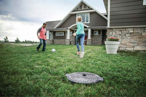 Playing soccer above an underground propane tank